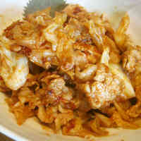 Stir Fried Cabbage and Pork with Tomato Sauce