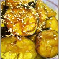Curry Flavored Summer Eggplant Stir Fry