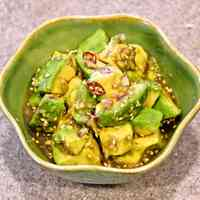 Irresistible! Avocado Marinated in Ponzu Sauce and Aromatics