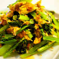 Komatsuna and Tuna Egg Stir-fry