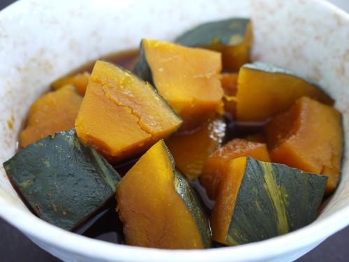Microwaved Authentic Tasting Simmered Kabocha Squash