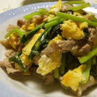 Pork and Komatsuna Greens Chinese Stir Fry