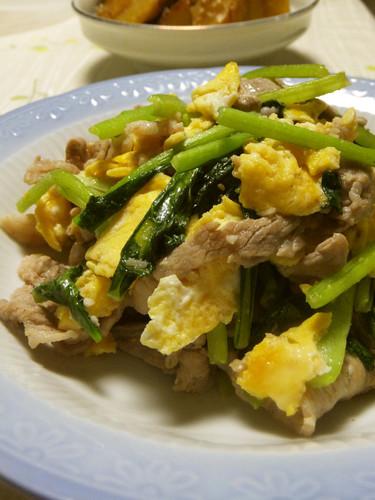 Pork and Komatsuna Greens Chinese Stir Fry