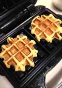 No Sugar Banana Waffles Made with Pancake Mix