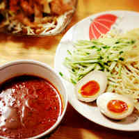 Noodles with Meat Miso Dipping Sauce in 10 Minutes
