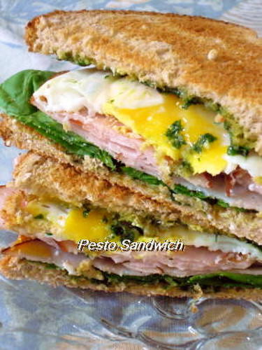 Sandwiches with Pesto Spread