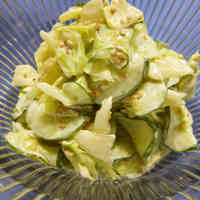Cabbage and Cucumber Sesame and Mayonnaise Salad