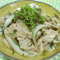 Stir-Fried Pork with Shiso Leaves