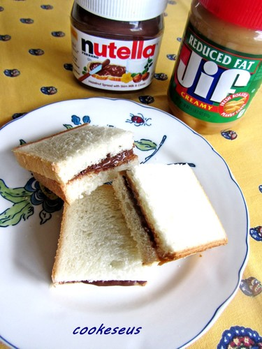 Nutella and Peanut Butter Sandwich