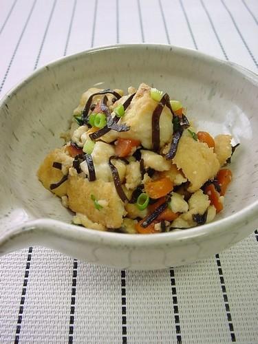 Shio-Kombu & Atsuage Tofu Stir-Fry