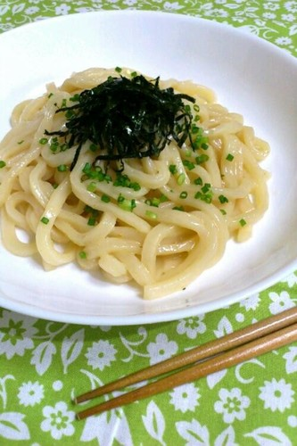 Easy Microwave Lunch: Yuzu Pepper Butter Udon Noodles