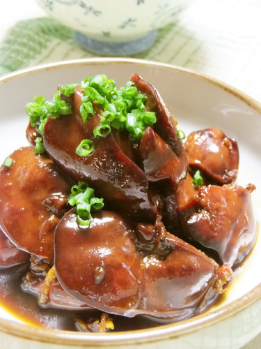 Gingery Savory-Sweet Chicken Liver