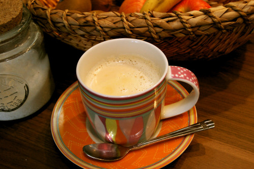 Grandma's Warm Caramel Milk