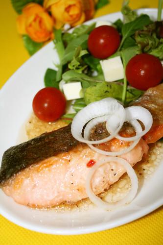 Italian Style Salmon Meunière