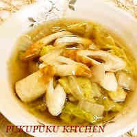 Stewed Chinese Cabbage and Chikuwa