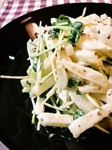 Asian Pear and Daikon Radish Sprout Salad