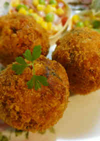 Melty Cheese Rice Balls