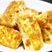 Sweet and Spicy Firm Tofu Fried with Okaka and Soy Sauce