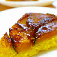 Kabocha Squash Cake in a Frying Pan