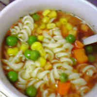 Consomme Soup with Macaroni