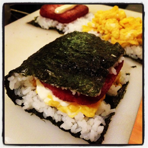 Fish Patty Onigiri Sandwich
