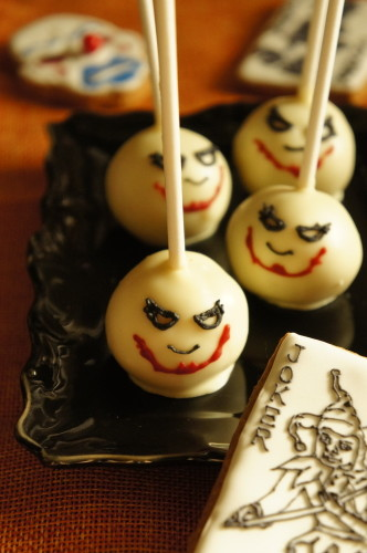 "Halloween Themed ""The Joker"" Cake Pops"