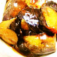 Sweet & Salty Simmered Eggplant