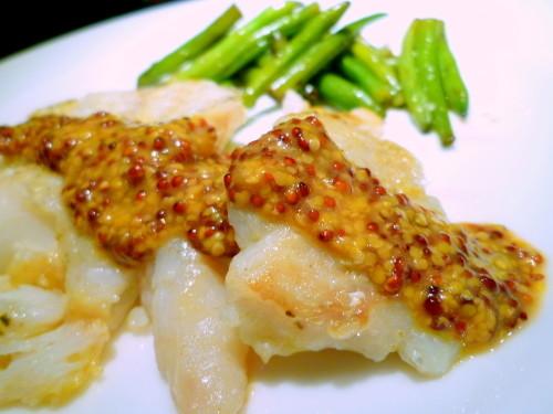 Cod à la Meunière with Mustard Sauce