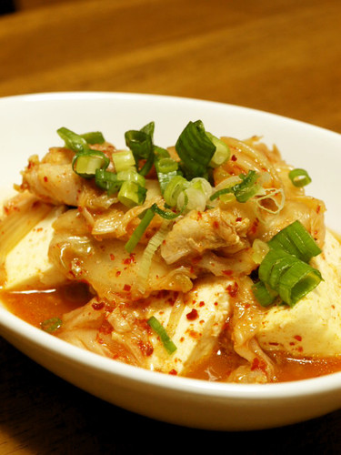 Super Quick Kimchi & Tofu Simmer in the Microwave
