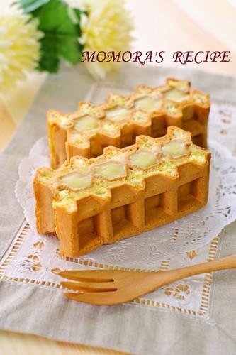 Easy Fluffy Waffle Custard Sandwich
