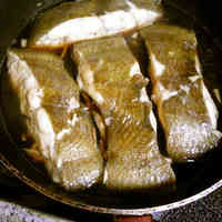 Simmered Flounder Made in a Frying Pan