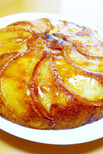 For Halloween! Apple and Kabocha Squash Cake