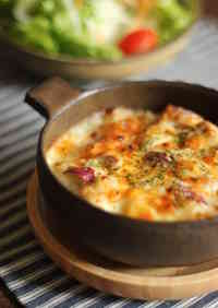 Sweet Potato and Chestnut Gratin with Rice