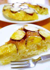 Sweet Potato Cake using a Frying Pan and Pancake Mix