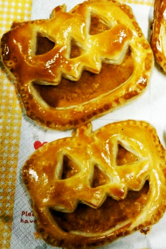 Halloween Kabocha Squash Pie