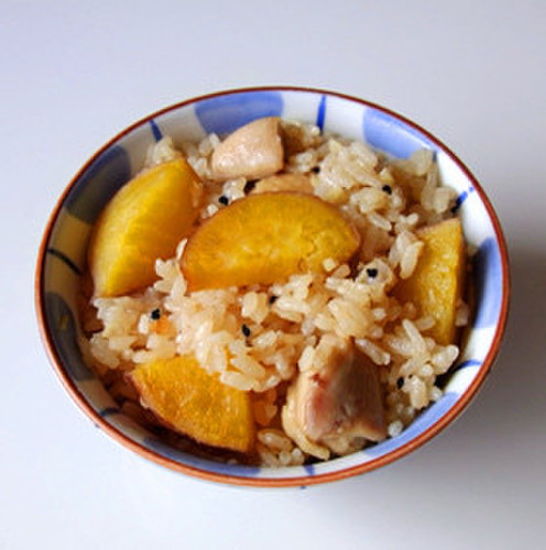Rice with Sweet Potato and Chicken