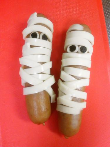 Halloween Character Bento Mummy Sausages