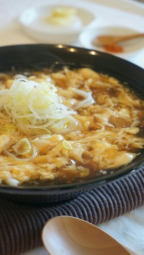 Udon Noodles in Egg Drop Soup