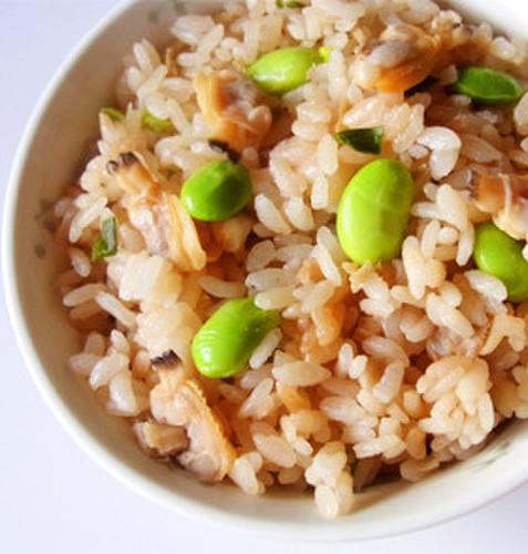 Clam and Edamame Mixed Rice
