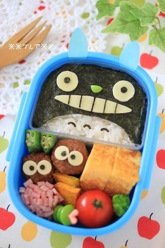 Easy Totoro Charaben (Decorative Bento)