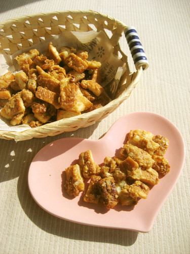 With Bread Crusts ✿ Caramel Almond Rusks