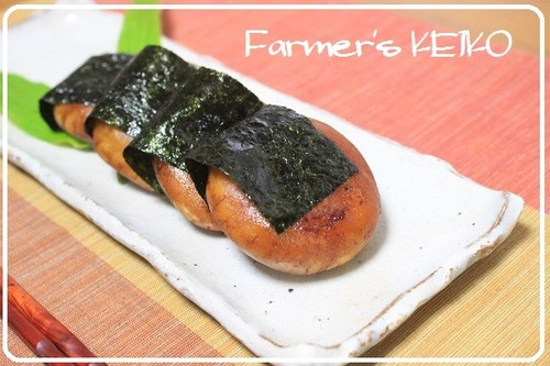[Farmhouse Recipe] Isobe-yaki Fried Potato Mochi Wrapped with Seaweed
