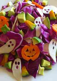 Purple Cabbage Salad for Halloween