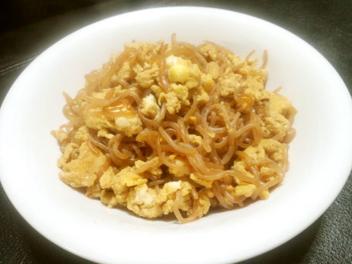 Sweet and Savory Shirataki Noodles with Egg