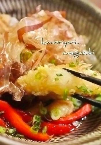 Cod with Grated Daikon Radish Agedashi (Deep Fried with Savory Sauce)