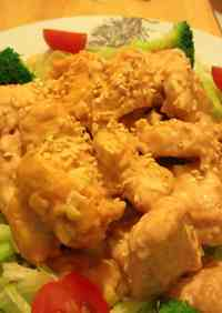 An Inexpensive Feast Made with Chicken Breast Deep-Fried Chicken with Mayonnaise