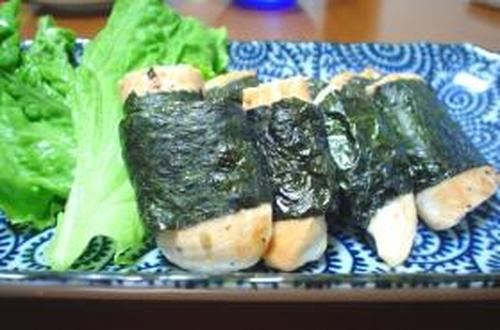 Easy Grilled Chicken Tenders Rolled with Seaweed