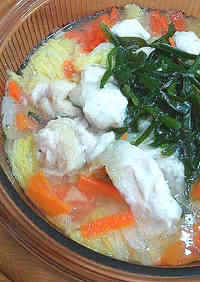 Napa Chinese Cabbage and Chicken Breast Hot Pot