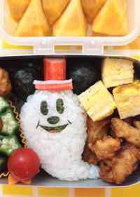 A Bento for a Kindergartener (Halloween Mickey Mouse)