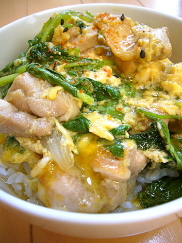 Quick, Easy and Creamy Chicken and Egg Rice Bowl